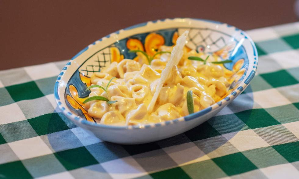 Pasta: Tortellini in Proto.  Foto: Evind Ykeshet