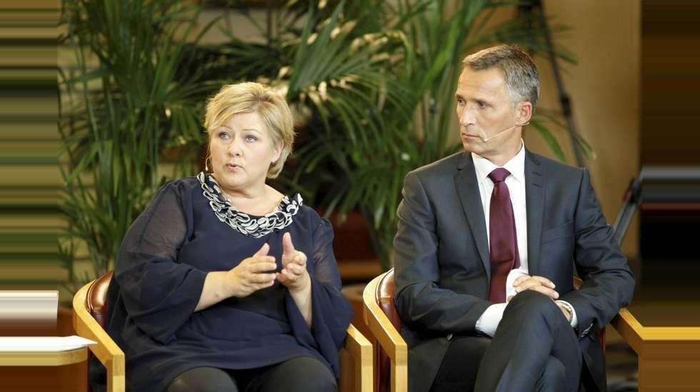 Solberg leder over stoltenberg