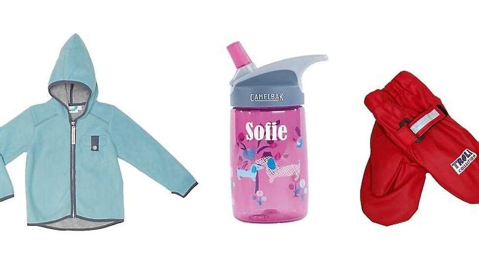 e094456a RIKTIG UTSTYR: Det er mye som skal kjøpes inn til barnehagestart. Fra  venstre:
