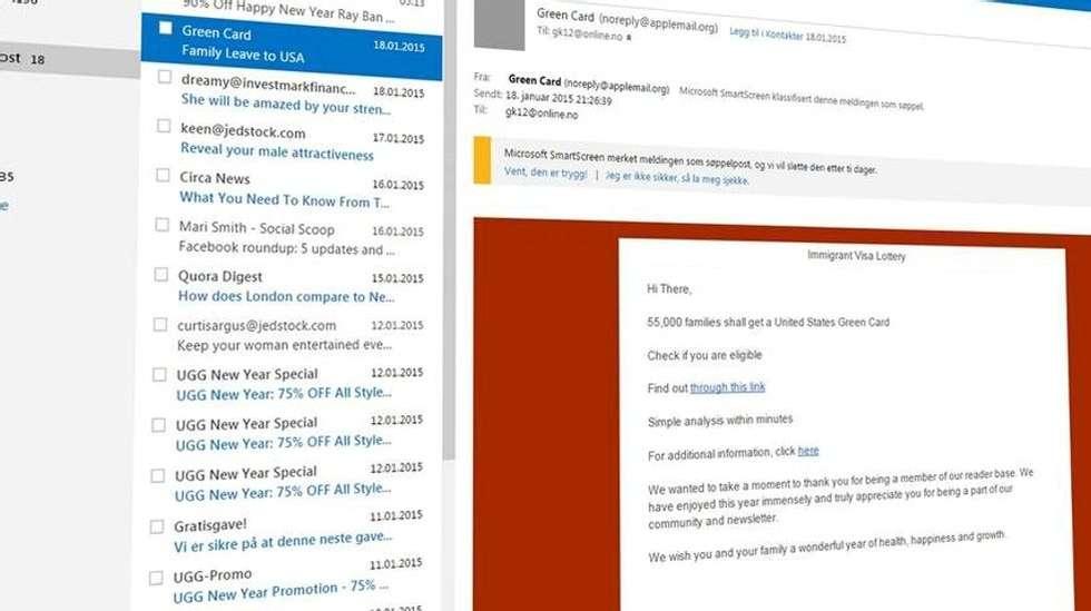e28c3a3e MYE SØPPEL: E-post er fortsatt en god kanal for uærlige personer for å