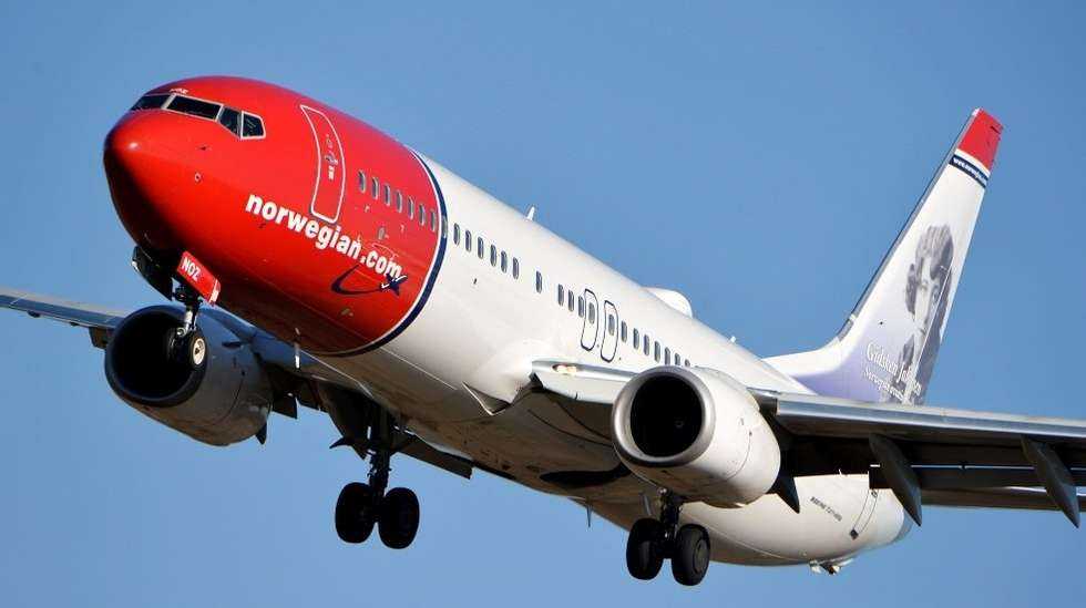 norwegian fly forsinket