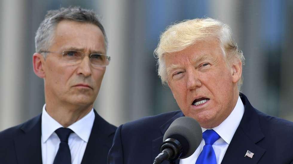 088cefa79 Trump avlyser pressekonferanse med Stoltenberg | ABC Nyheter