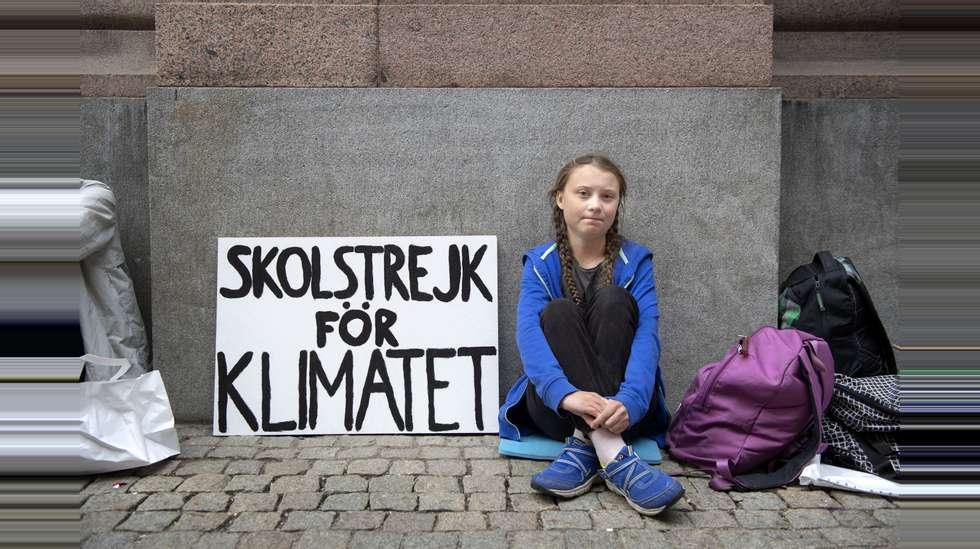 eb815a55 Greta Thunberg (15) har vært i streik for klimaet siden skolestart og skal  sitte