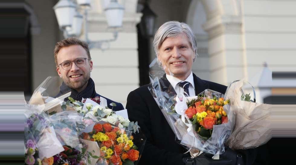 dd4bc3f8 Utviklingsminister Nikolai Astrup (H) (til venstre) og miljøminister Ola  Elvestuen (V