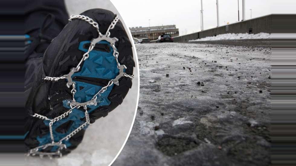 f481f66a Vil du unngå å tryne på isen? Da bør du velge riktig sko   ABC Nyheter