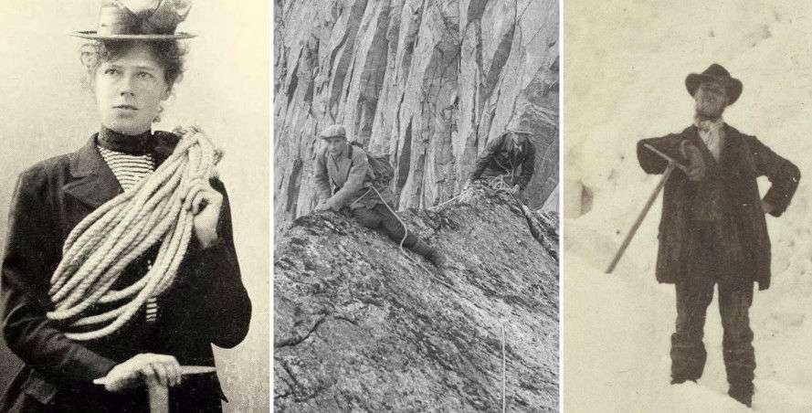 57abab7d «Det finnes ikke dårlig vær, bare dårlige klær» får ny betydning når du ser  bilder av norske fjellklatrere på 1800-tallet.