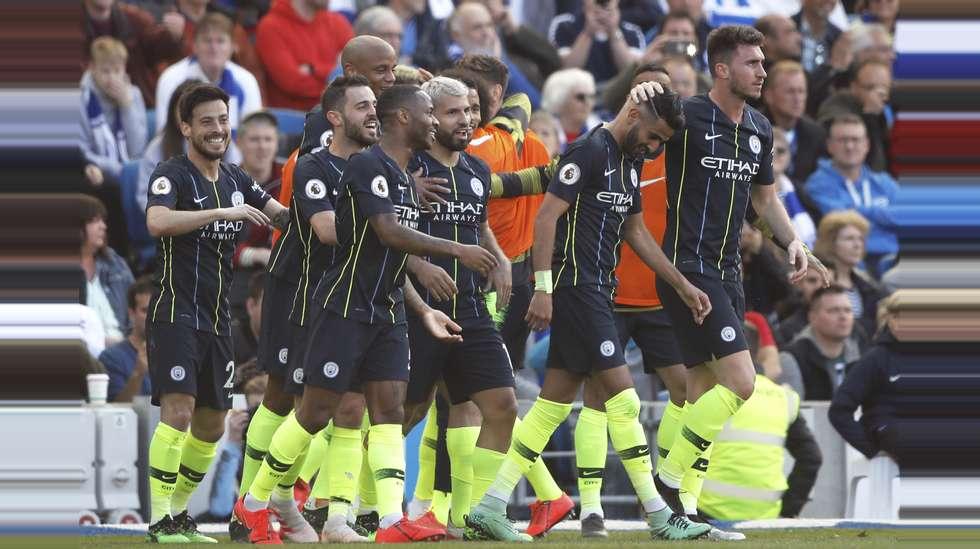 aa69825f Manchester City lå under mot Brighton, men kom tilbake og vant 4-1. Med det  ble også klubbens fjerde Premier League-tittel sikret, poenget foran  Liverpool.