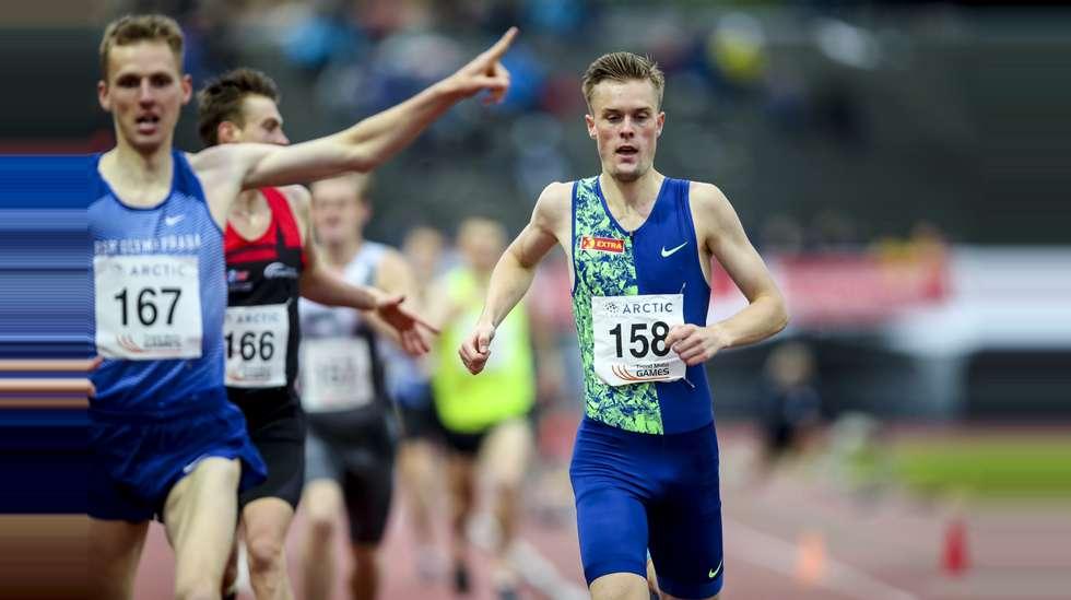 606095e0 Filip Ingebrigtsen ble nummer to på 1500 meter under Trond Mohn Games.  Foto: Vidar