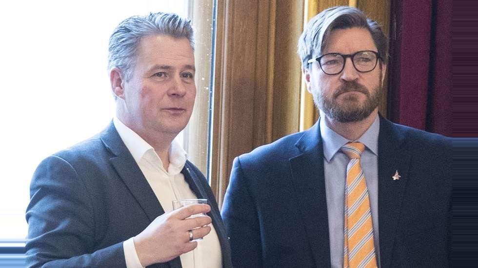 316e1eac Per-Willy Amundsen og Christian Tybring-Gjedde (begge Frp) under debatten om