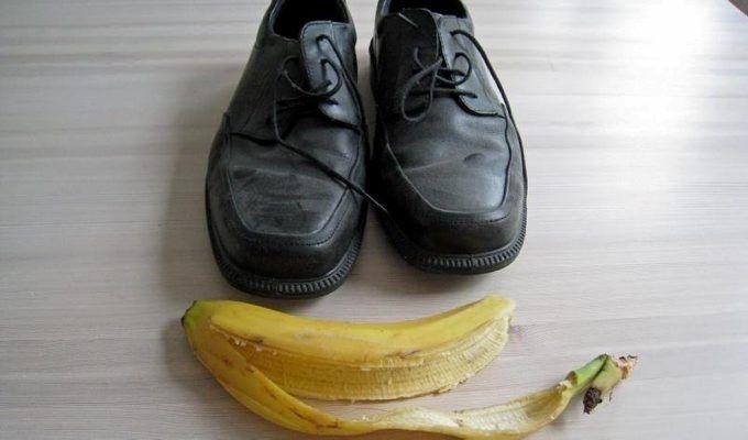 Slik blir skoene dine blanke med et bananskall   ABC Nyheter