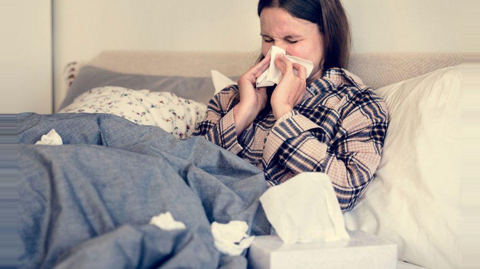bli av med influensa