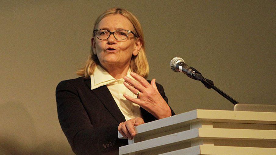<p>Den fremstående europapolitiske eksperten Brigid Laffan talte mandag.</p>