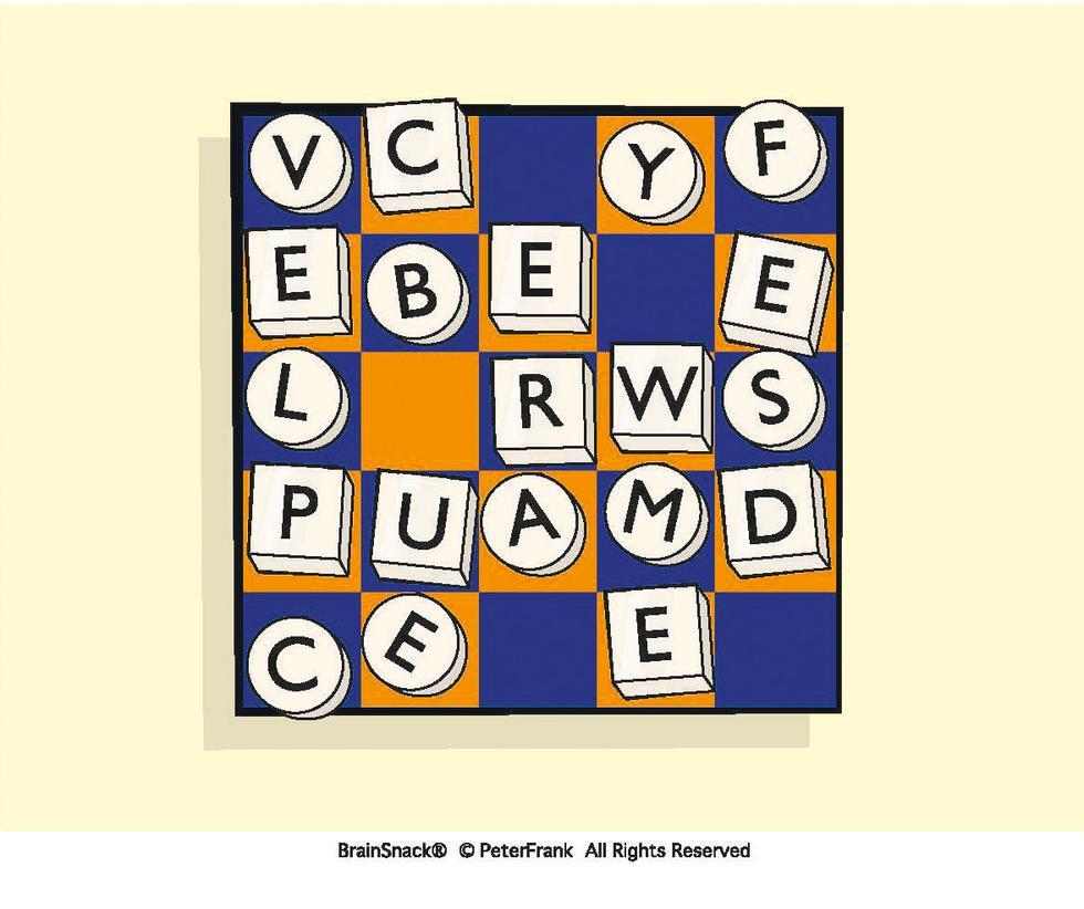 Hvilket ord danner bokstavene?