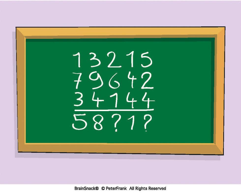 Svaret i dette regnestykket er ufullstendig. Hva skal løsningen være?