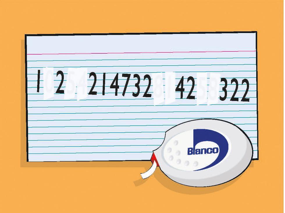 Hvilket tall må viskes ut for å få tallrekken til å bli logisk?