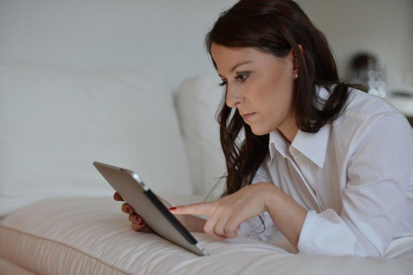 Businesswoman at Work with Tablet Computer