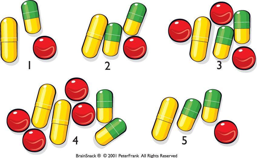 Hvor mange piller må pasienten ta?