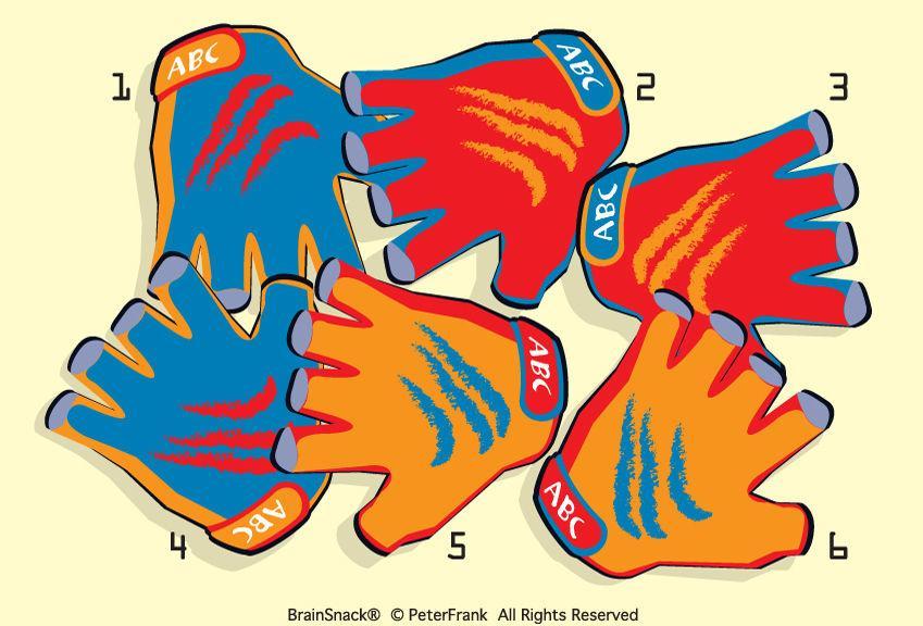 Hvilken hanske er feil?