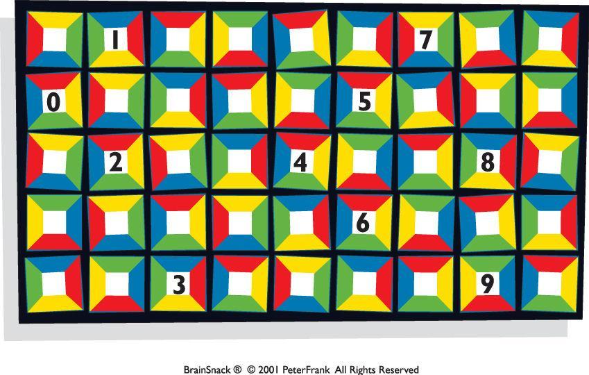 En av firkantene er feil - ser du hvilken?
