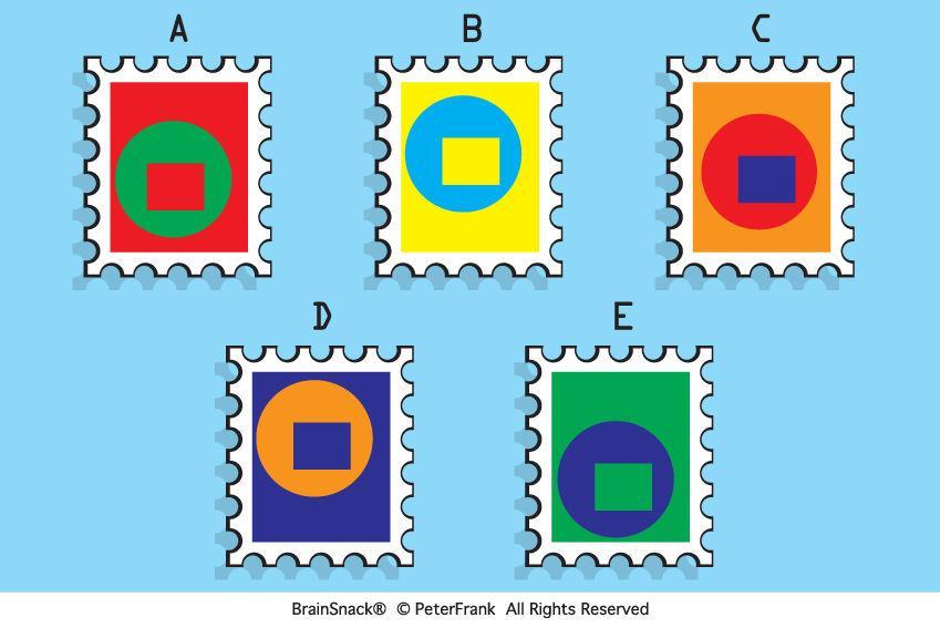Hvilket frimerke passer ikke?