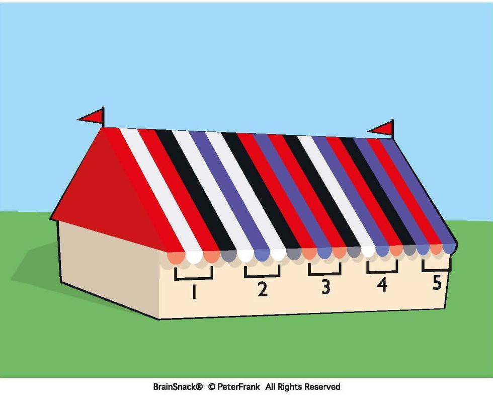 Hvilket sett striper har feil farge?
