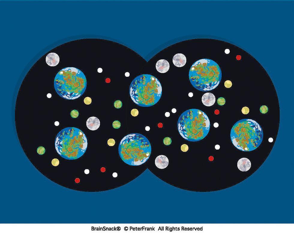 Hvor mange måner går i ring rundt den blå planeten?