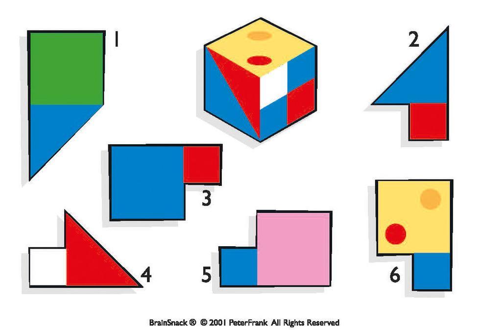 Hvilken del (1-6) er ikke nødvendig for å lage denne kuben?