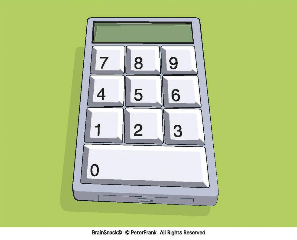 Hvilket tall skal stå på kalkulatoren?