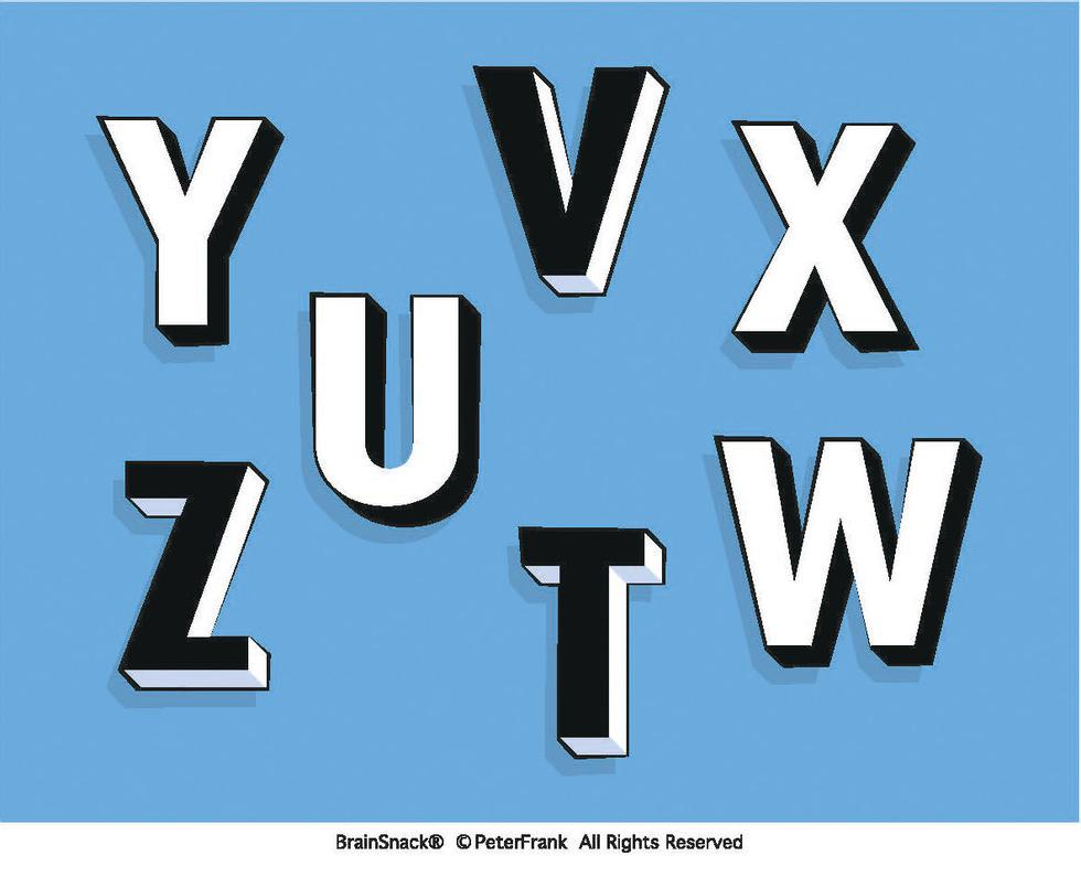 Hvilken bokstav har feil farge?