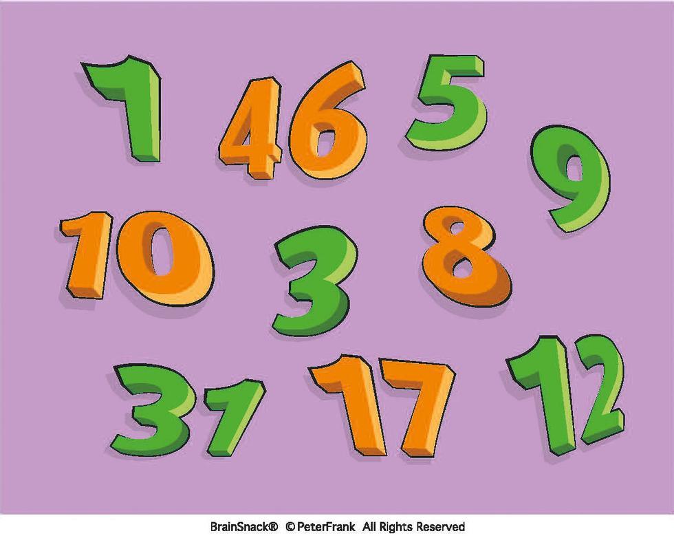 Hvilket tall må skifte farge?