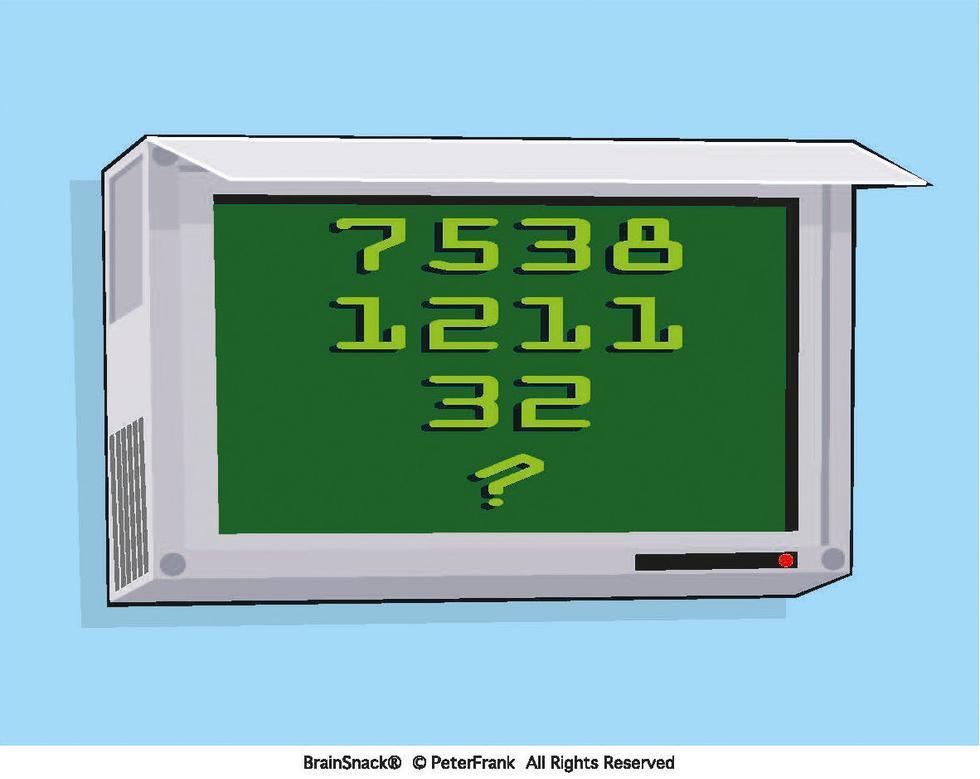 Hvilket tall er erstattet av et spørsmålstegn?