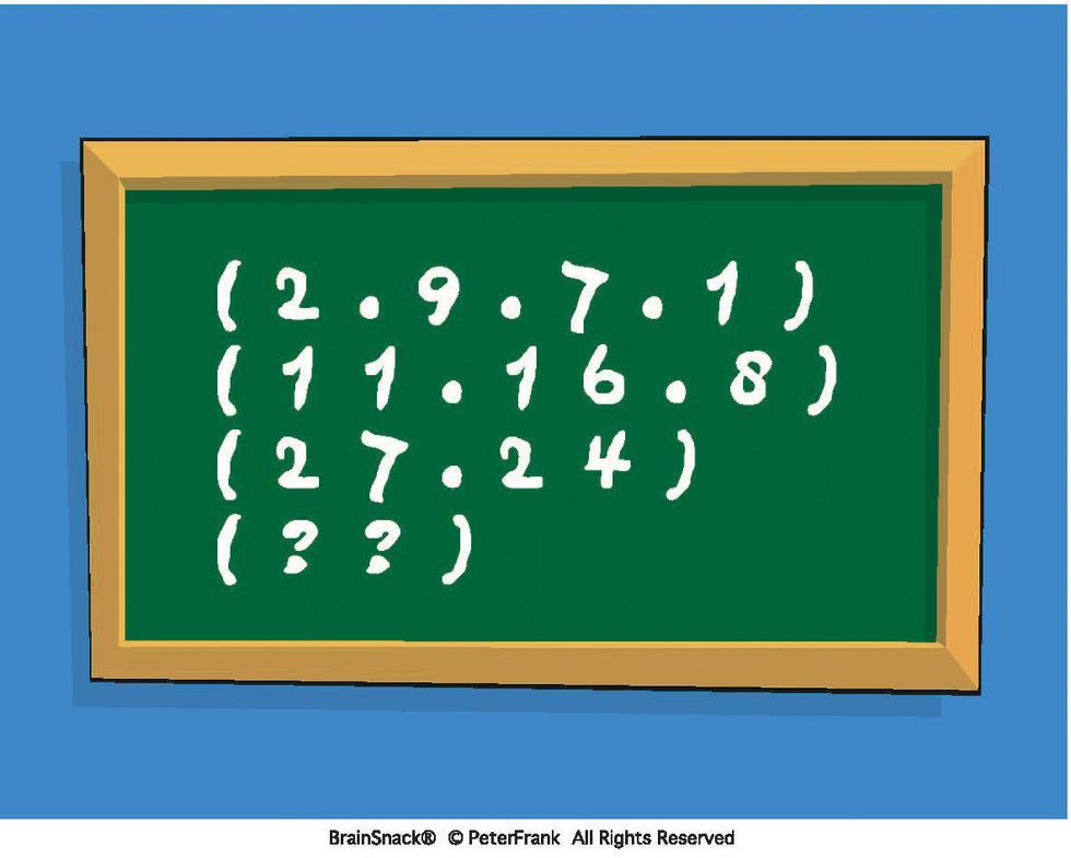 Hvilke tall skal erstatte spørsmålstegnet?