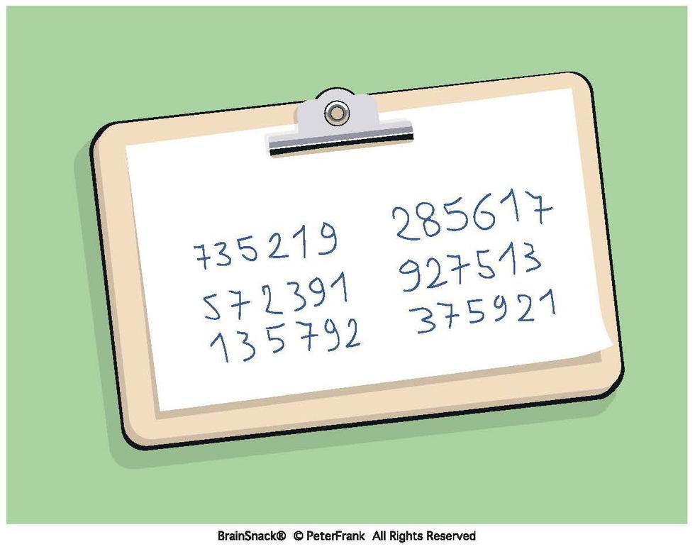 Hvilket tall passer ikke inn her?