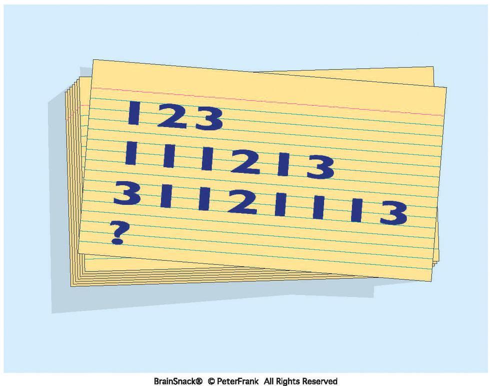 Hvilke tall skal stå på nederste rekke?