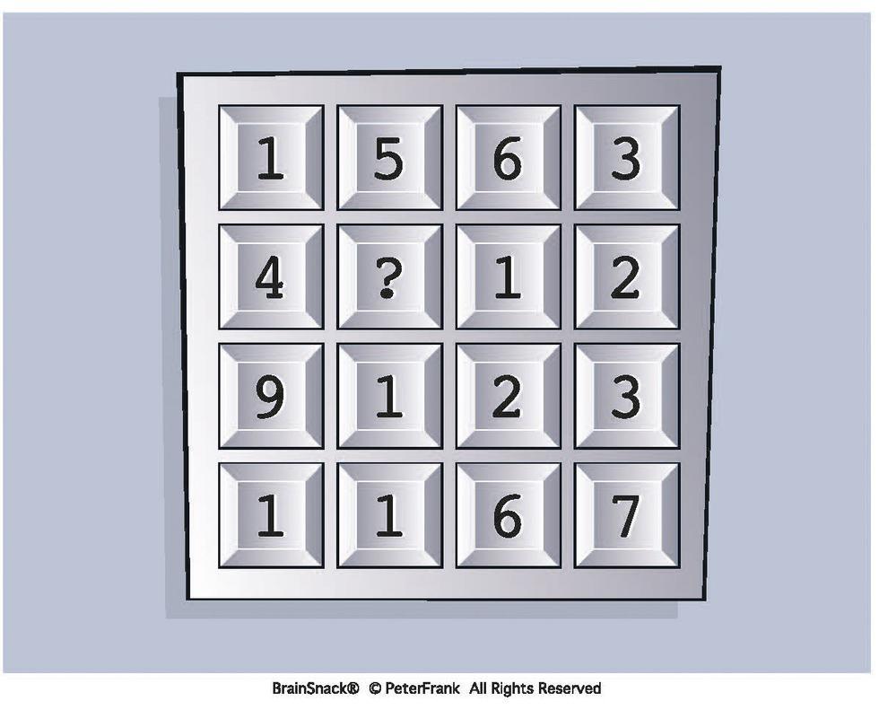 Hvilket tall mangler i andre rekke?