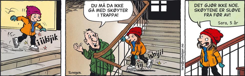 Barnas Planet - Skøyter i trappa