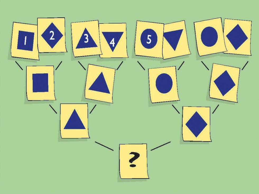 Hvilken figur skal erstatte spørsmålstegnet?