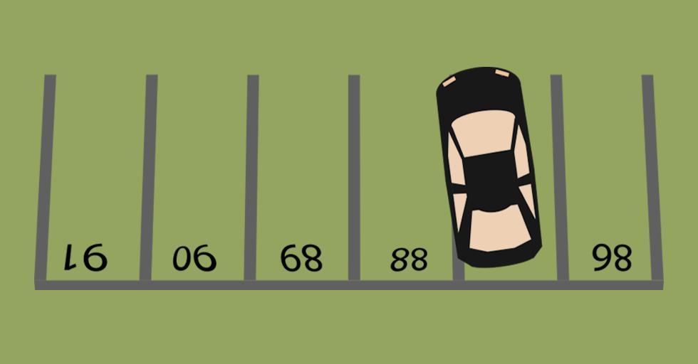 Hvilket tall er skjult under bilen?