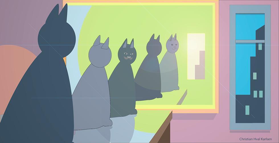 Hvor mange katter ser du?