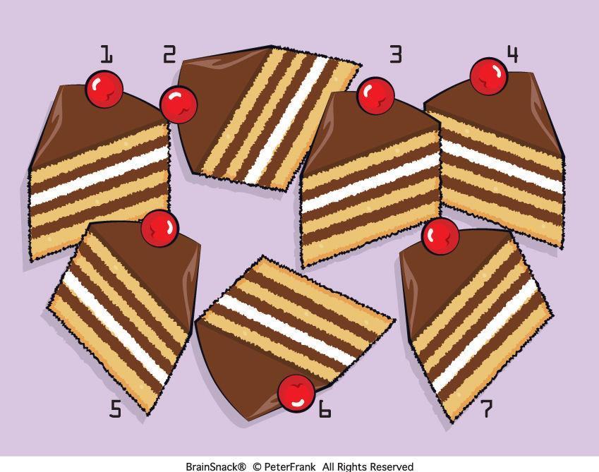 Hvilket kakestykke er feil?