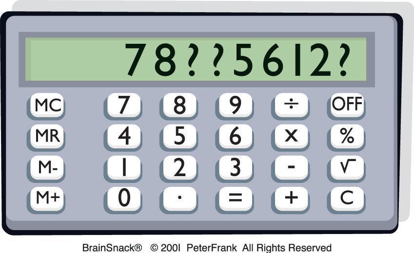 Hvilke tall mangler på skjermen?