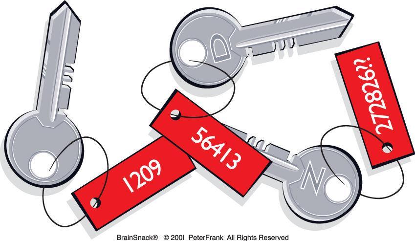 Finner du riktig tall på nøklene?